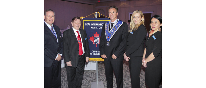 SKAL Hamilton/Toronto joint dinner meeting with guest speaker Frank McKeown