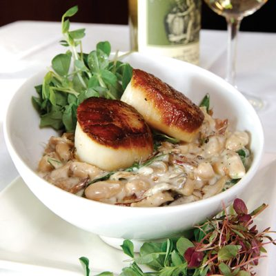 White Bean Cassoulet with Scallops