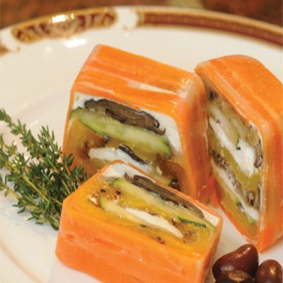 Roasted Pepper and Eggplant Terrine