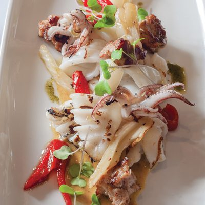 Grilled Marinated Calamari