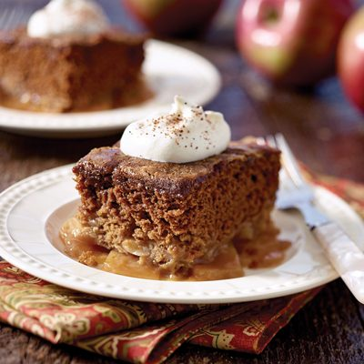Apple Gingerbread Pudding Cake