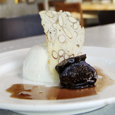 Frangelico Panna Cotta with poached Figs