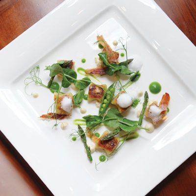 Ricotta Gnocchi with Minted Peas & Asparagus