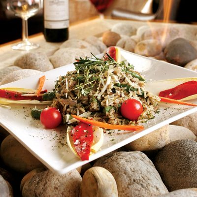 Three Mushroom &  Asparagus Risotto