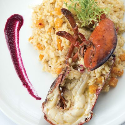 Butternut Squash and Lobster Risotto