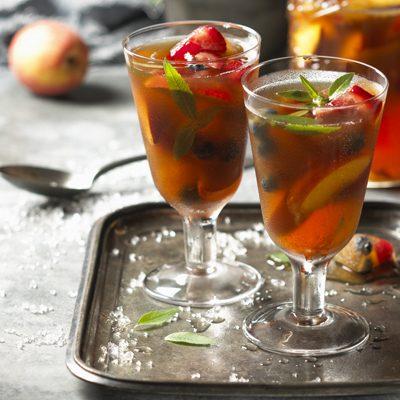Muddled Iced Peach Cordial