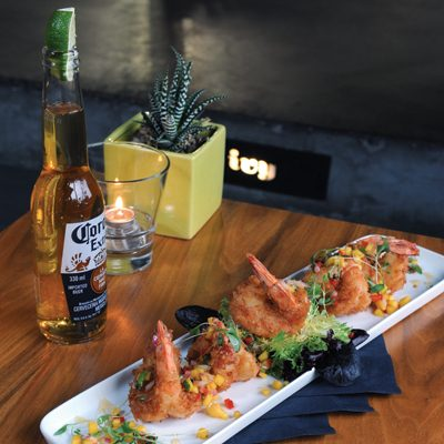 Coconut Shrimp & Mango Lime Salsa