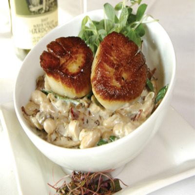 Pan Seared Sea Scallops and White Bean Cassoulet