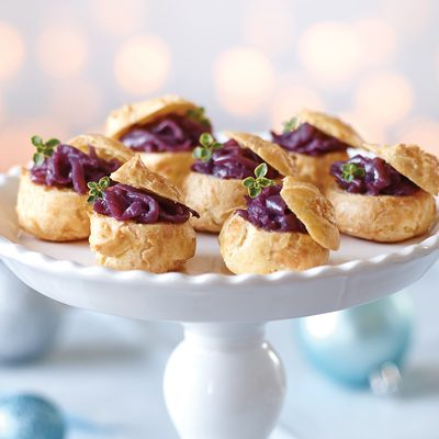 Cheese Puffs with Onion Jam
