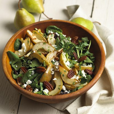 Roasted Pear Salad with Chevre
