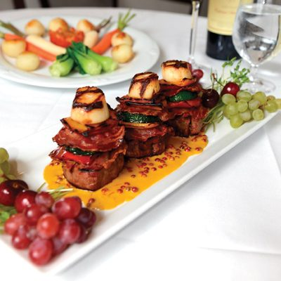 Veal Tenderloin with  Sea Scallop Napolitains