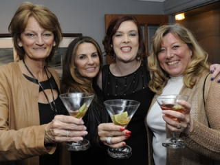 Carole Bettinson, President of the Halton Chapter of the Crohn's & Colitis Foundation, Lucie Andlauer, Penny Weir and Susan Taylor