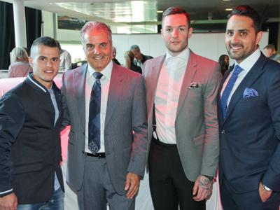 Sebastian Giovinco, Basil Policaro, Jonathan Bernier and Francesco Policaro