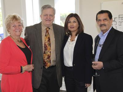 Ruth Anne Winter, Oakville Mayor Rob Burton and Shabnam and Amir Nanji