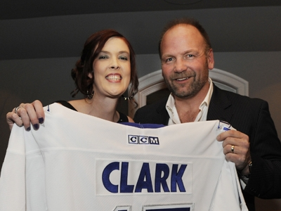 Penny Weir, Crohn's and Colitis Foundation of Canada, and NHL alumni Wendel Clark