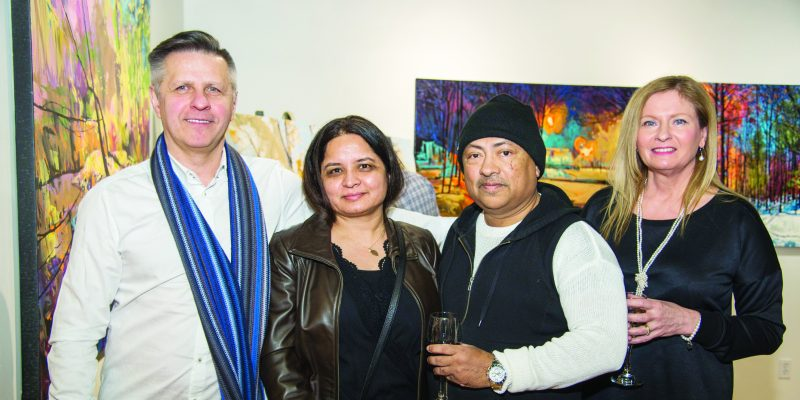 Meet the Artist evening at Crescent Hil Gallery, Mississauga.