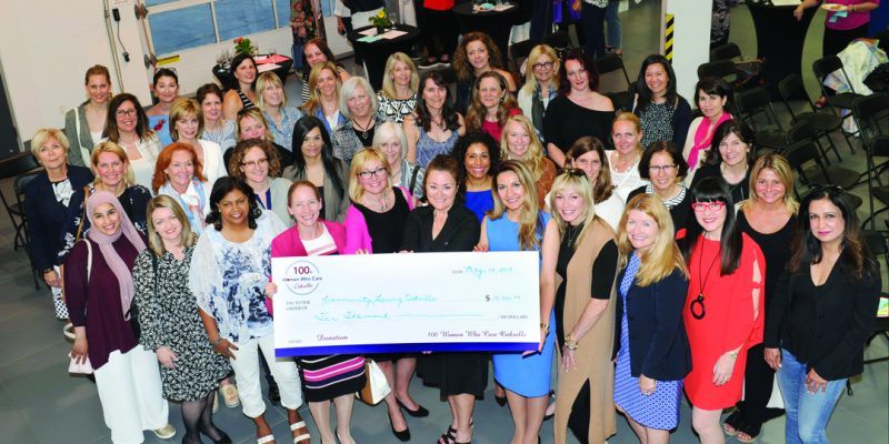 100 Women Who Care Oakville donating $10,000 to Community Living Oakville.
