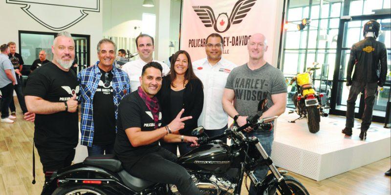 Grand opening of Policaro Harley Davidson in Oakville.