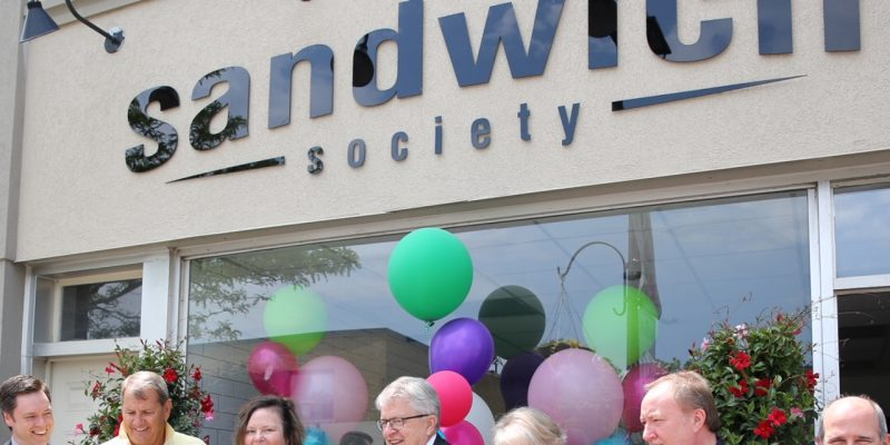 Sandwich Society grand opening on Kerr Street, Oakville.