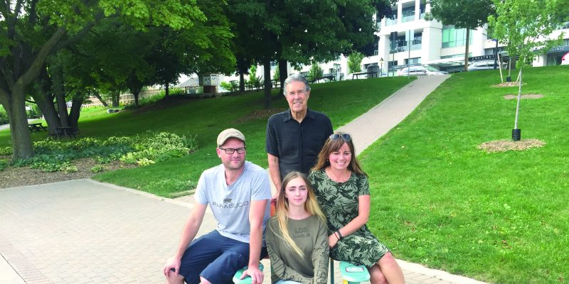 ArtHouse, Kerr Street Mission and Gary Allan HS collaboration for the At Home in Bronte Muskoka Chairs Project, Heritage Park.