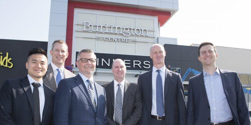 Unveiling of Burlington Mall's rebranding as Burlington Centre.