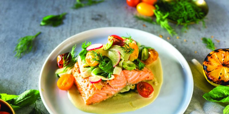 Chef Cory Vitiello's Mediterranean Salmon with Herbs