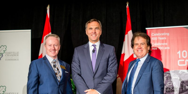 Canada's Minister of Finance hosted by the Oakville Chamber of Commerce at the Holiday Inn Oakville Centre