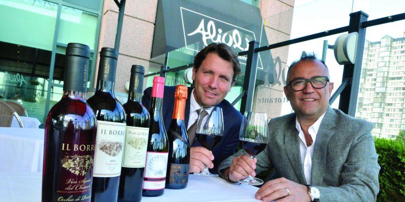 Wine tasting at Aioli Restaurant in Mississauga